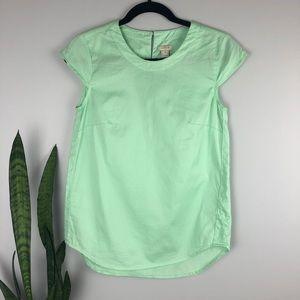 J. Crew Mint Green Short Sleeve Top - Size XXS